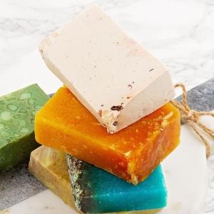 Handmade natural soap, eco friendly spa, beauty skincare concept