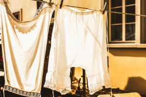 white bottoms on clothes line