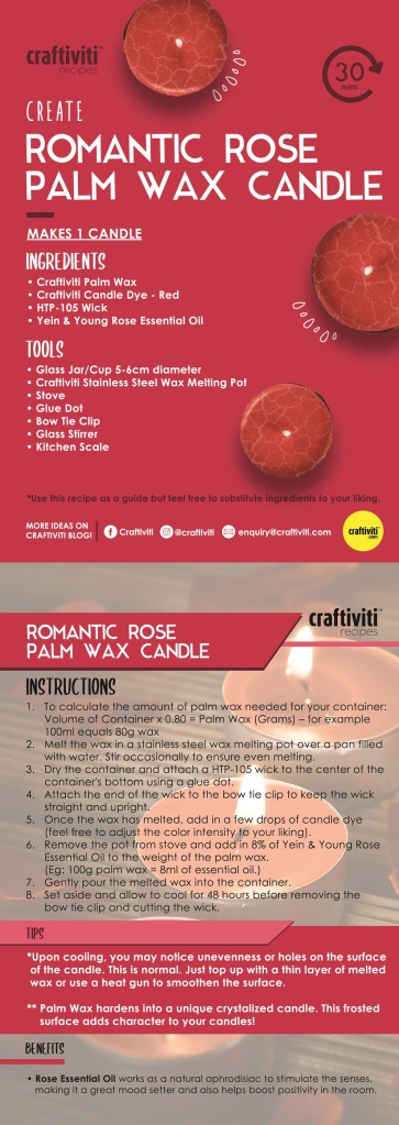 Craftiviti Recipe DIY Instructions 2-Romantic Rose Palm Wax Candle - Copy