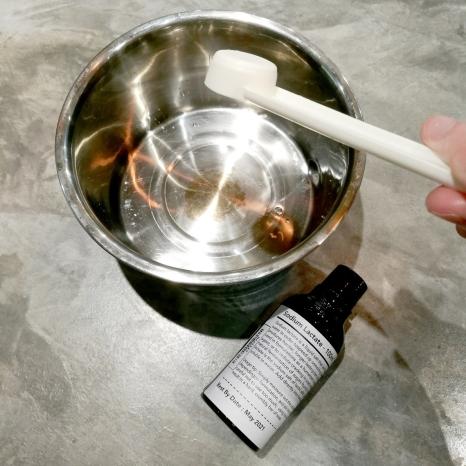 adding sodium lactate to cooled lye solution2