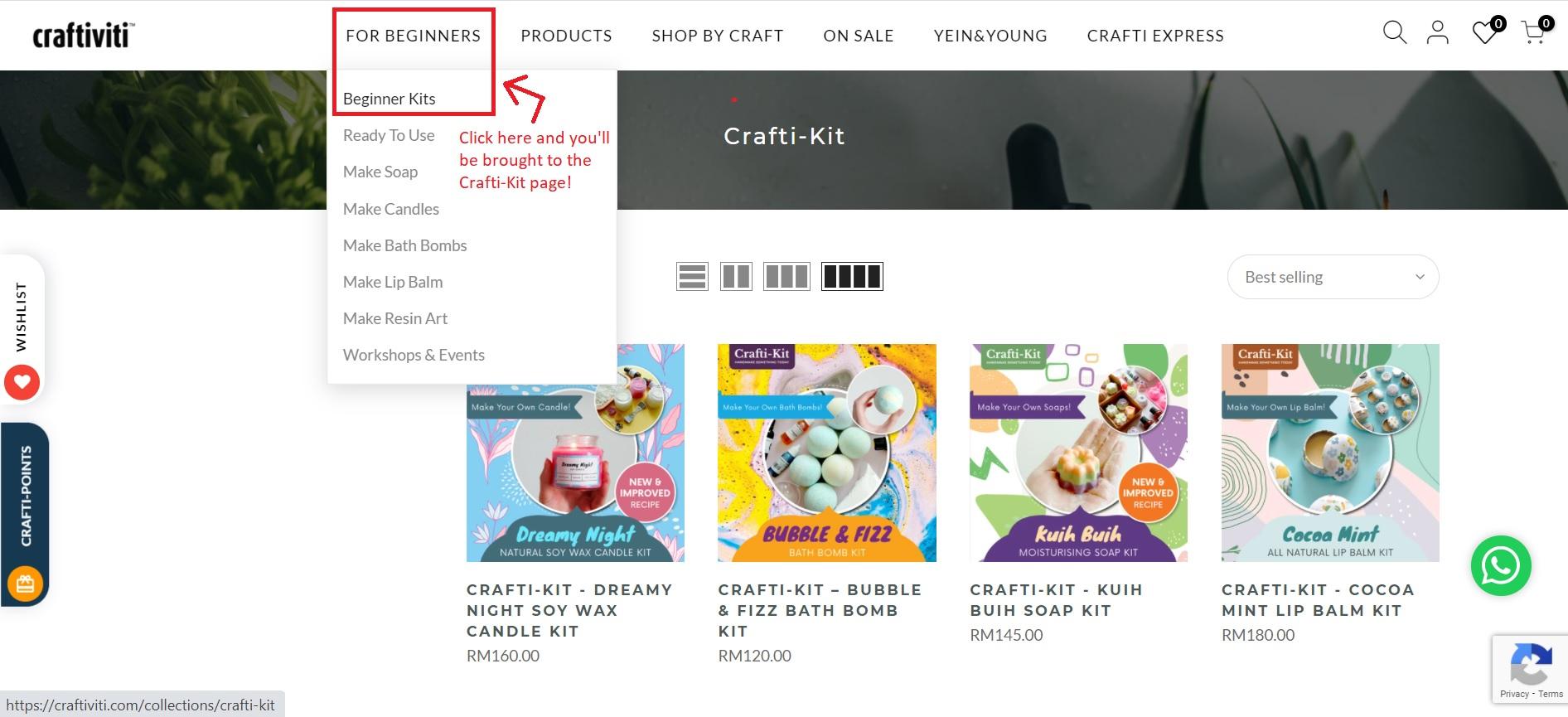 crafti kit website craftiviti collection
