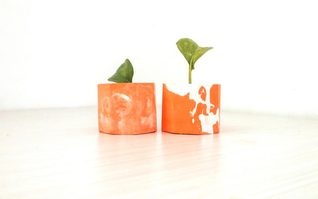 teracotta and plaster of paris plant pots 2